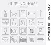 nursing home line icon. medical ... | Shutterstock .eps vector #407267650