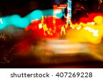 Abstract Image Of Night Lights...