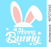 bunny logo   mascot template   Shutterstock .eps vector #407271010