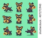 cartoon character yorkshire... | Shutterstock .eps vector #407271940