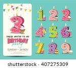 birthday anniversary numbers... | Shutterstock .eps vector #407275309
