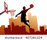 basketball player | Shutterstock .eps vector #407281324