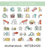 finance and business icons set... | Shutterstock .eps vector #407281420