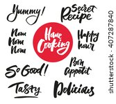 the cooking lettering designs... | Shutterstock .eps vector #407287840