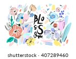 banner with beautiful flowers....