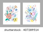 set of creative universal... | Shutterstock .eps vector #407289514