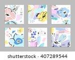 set of creative universal... | Shutterstock .eps vector #407289544