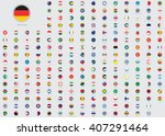 world flag illustrations in the ... | Shutterstock .eps vector #407291464