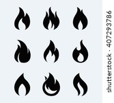 fire icon vector set  isolated... | Shutterstock .eps vector #407293786