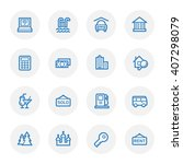 travel web icons set | Shutterstock .eps vector #407298079