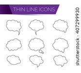 Thin Line Icons For Web. Thin...