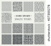 set of hand drawn marker and... | Shutterstock .eps vector #407300278