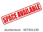 space available red stamp text...   Shutterstock .eps vector #407301130