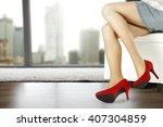 red heels    Shutterstock . vector #407304859