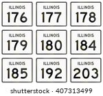 collection of illinois route...   Shutterstock . vector #407313499