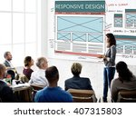 responsive design layout... | Shutterstock . vector #407315803