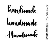 set of calligraphic logotypes   ...   Shutterstock .eps vector #407316679