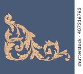premium gold vintage baroque... | Shutterstock .eps vector #407316763