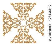 premium gold vintage baroque... | Shutterstock .eps vector #407316940