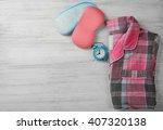 sleeping masks  pajamas and... | Shutterstock . vector #407320138