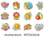 set of cartoon elements for... | Shutterstock .eps vector #407322616
