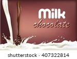 milk splash chocolate  design... | Shutterstock . vector #407322814