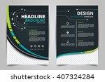 abstract vector modern flyers...   Shutterstock .eps vector #407324284