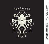 vector octopus hand drawn...   Shutterstock .eps vector #407326294