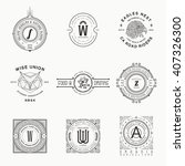 vector vintage labels. template ... | Shutterstock .eps vector #407326300
