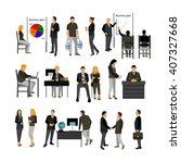 office workers vector set.  | Shutterstock .eps vector #407327668