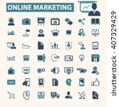 online marketing icons  | Shutterstock .eps vector #407329429