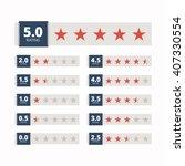 star rating badges.  | Shutterstock . vector #407330554
