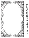 decorative frame | Shutterstock .eps vector #407334574