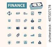 finance icons  | Shutterstock .eps vector #407337178