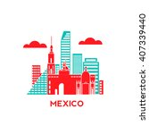 mexico city architecture retro...   Shutterstock .eps vector #407339440