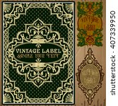 vector vintage items  label art ... | Shutterstock .eps vector #407339950