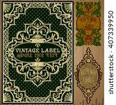 vector vintage items  label art ... | Shutterstock .eps vector #407339950