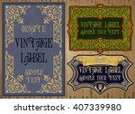 vector vintage items  label art ... | Shutterstock .eps vector #407339980