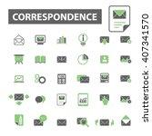 correspondence icons  | Shutterstock .eps vector #407341570