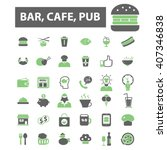 bar  cafe  pub icons  | Shutterstock .eps vector #407346838