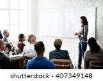 conference training planning... | Shutterstock . vector #407349148
