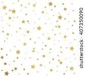 golden stars pattern seamless | Shutterstock .eps vector #407350090