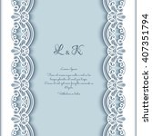 elegant greeting card with lace ... | Shutterstock .eps vector #407351794