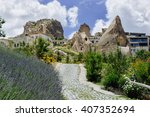 cappadocia houses made in... | Shutterstock . vector #407352694