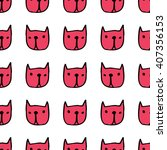seamless cute pattern with... | Shutterstock .eps vector #407356153