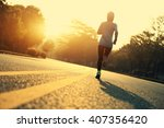 young fitness woman runner... | Shutterstock . vector #407356420