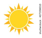 sun icon. vector illustration | Shutterstock .eps vector #407358010