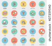 icons business and kinds of... | Shutterstock .eps vector #407359540