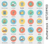 modern seo contour icons for... | Shutterstock .eps vector #407359903