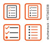 list items vector bicolor icon. ...